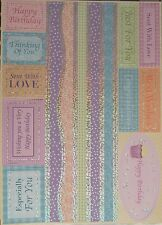 Kanban Paper Craft Borders and Sentiments Birthday