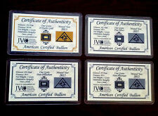 Gold Silver Platinum Palladium 1GRAIN Bullion Bars Certificate of Authenticity