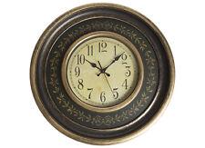 LARGE Tik Tock 45.5cm Goldleaf Wall Clock, Gold & Black