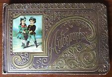 Antique Autograph Book 1889 Otto Utnehmer Langlade County Appleton Wisconsin