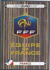 PANINI EURO 2012- #456-FRANCE TEAM BADGE-SILVER FOIL