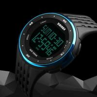Led Uhr Sport Quarz Armbanduhr Männer Herren Analog Digital Wasserdicht
