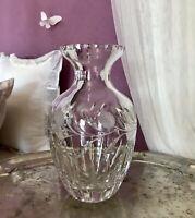 Edel! Erscheinung! Vintage Vase Glasvase Kristallglas wunderschön! 2550g!
