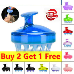Head Scrubber Shampoo Brush Hair Scalp Massager Washing Comb Soft Silicone Comb▲
