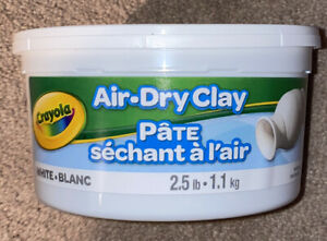 NEW! CRAYOLA 575050 AIR DRY CLAY WHITE 2.5LB BUCKET CRAFTS,ART, KIDS