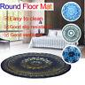 Ethnic India Mandala Pattern Yoga Mat Rugs Floor Bathmat Round Non-slip