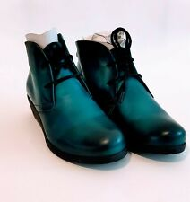 Effegie Ensai Teal ladies ankle boots lace up wedges BRAND NEW