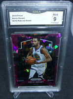 2019-20 Panini Prizm Kevin Durant Pink Ice Prizm Card #210 GMA Graded Mint 9