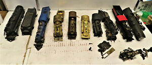 BRASS STEAM LOCOMOTIVES ( PARTS ONLY) HO SCALE 9 LOT