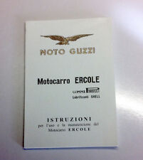 Libretto uso e manutenzione Guzzi Ercole 500