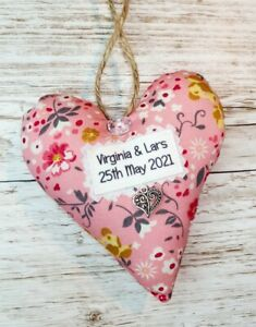 2nd Wedding Anniversary Heart Keepsake - Cotton Anniversary - Gift For Her