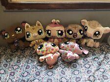 Littles Pet Shop Plush Set Lot 2008 Kitty Cow Ladybug Dog Mouse Bear Dog