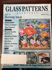 Glass Patterns Quarterly Summer Issue Fractal Candle Bench 2015 FREE SHIPPING JB