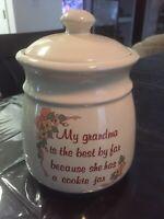1989 House of Lloyd Grandma Cookie Jar, My Grandma Is The Best Cookie Jar