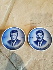 Vintage Jfk set of 2 Miniature Plates Royal Copenhagen from Denmark
