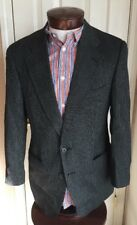 Vintage Lanvin Sorbonne Paris Black Two Button Blazer Jacket Suit Men's 42