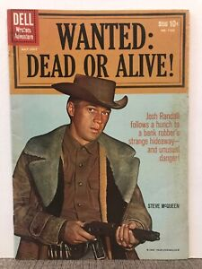 WANTED:  DEAD OR ALIVE!  STEVE McQUEEN   MAY 1960  DELL  #1102  1ST ISSUE!  NICE