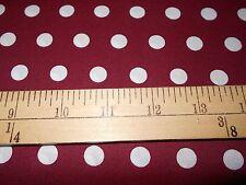 1 yard Little Dot Burgandy Fabric