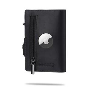 Airtag Wallet Genuine Leather Credit Card Money Holder AirTag Case Air Tag Cover