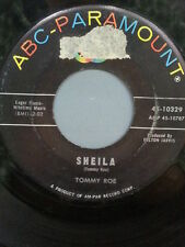 """TOMMY ROE 45 RPM """"Sheila"""" & """"Save Your Kisses"""" G condition"""