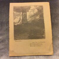 Antique Book Print - Boyd's Tower - Sydney Ure Smith - 1917