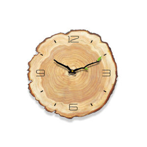 Wooden Pattern Wall Clock Decorative Piece of Wood Clock Creative 30cm/12in