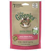 Greenies Feline Dental Treats Savory Salmon Flavor 71G