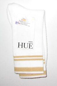 HUE~ONE SIZE~Women's White Sporty Mesh Socks