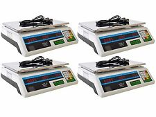 LOT 4 Electronic Counting Digital Computing Food Meat Price Weight Scale