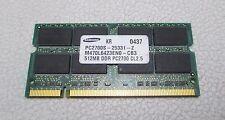 Samsung 512MB PC2700 DDR 333MHz CL2.5 Laptop Memory M470L6423EN0-CB3