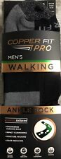 2 Pairs COPPER FIT PRO MENS WALKING ANKLE SOCKS COPPER INFUSED Shoe SZ. 6-12