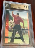 2001 UPPER DECK TIGER WOODS COLLECTION #TWC12 RC ROOKIE BGS 9.5 QUADS ~ PSA 10