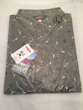 REDINGTON FLY PRINT CASUAL SHIRT SIZE LARGE -  SAGE - NEW - MSRP $40