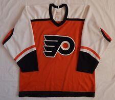VINTAGE 1980'S CCM NHL Philadelphia Flyers HOCKEY JERSEY ADULT SZ LARGE NICE Con