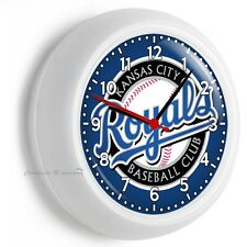 KANSAS CITY ROYALS BASEBALL TEAM WALL CLOCK MAN CAVE LIVING TV ROOM GARAGE DECOR