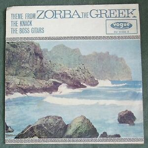 "7"" The Boss Guitars Theme from ""Zorba The Greek""/The Knack  Vogue /Knapp 1965"