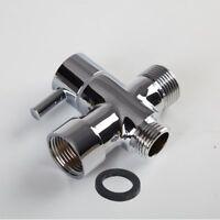 Brass 3-Way T-Adapter with Shut-off Valve for Toilet Bidet/Hand Sprayer Shower