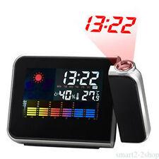 schermo lcd a colori di plastica nera controluce proiezione sveglia orologio QR9
