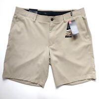 Under Armour Showdown Golf Shorts Mens Size 38 Khaki Stretch Flat Front UA NWT