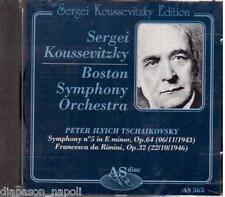 Tchaikovsky: -Symphony (Sinfonia) N.5, Francesca Da Rimini / Koussevitzky -  CD