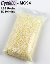 ABS pellet natural - 1 Kg - CYCOLAC MG94 - 3D Printing Extrusion