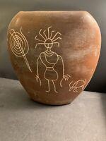 "Vintage Unique Arizona Clay Vase Pottery Signed  ""Arizona 1995"" 10.8"" Tall"
