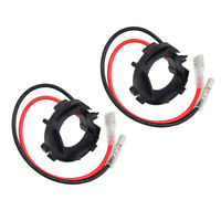 2x H7 LED Bulbs Base Adapter Holders Fit VW Scirocco Touran Sharan for Jetta MK6
