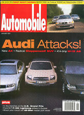 Automobile Mag Jan 2001 - Audi Steppenwolf SUV Concept - Ford SVT F-150