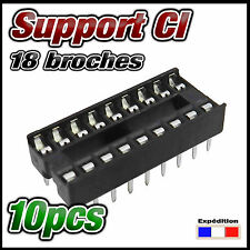 9718/10# Support CI lyre 18 broches  lot de 10pcs  DIP 18