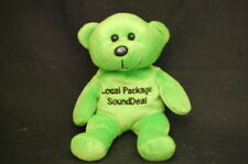 "Verizon Teddy Bear Green Local Package Sound Deal Plush 7"" Lovey Toy"