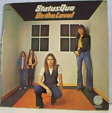 33 tours STATUS QUO Hard Rock Vinyl LP ON THE LEVEL - VERTIGO 9102002 RARE