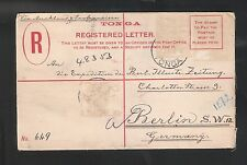 Tonga: 1905; Postal Stationery to New Zealand by German ship. not stamps. TG107