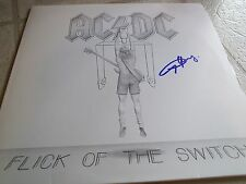"AC/DC SIGNED ALBUM ""FLICK OF THE SWITCH"" ANGUS YOUNG MINT! INCREDIBLE! WOW PROOF"