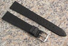 18mm STYLECRAFT Black WATER BUFFALO Watch Band NOS Strap Made in CANADA #490